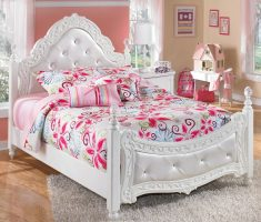 white royal girls bedroom furniture with pink ascents