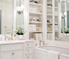 white traditional bathroom designs for small bathroom