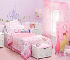 wonderful disney princess bedroom pink theme