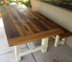 wonderful farmhouse dining table with bench reclaimed