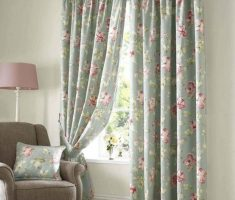wonderful flowers curtain with grey colors for modern window treatments