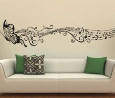 wonderfull butterfly with musical scale for removable wall decals inspirations