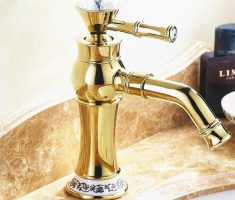 wonderfull golden bathroom faucets modern design