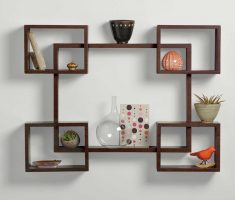 wooden wall mount shelf design brown colour lilke billiyard table