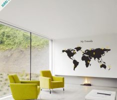 world maps black for removable wall decals inspirations
