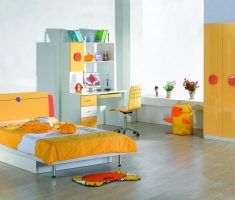 yellow girls bedroom furniture scheme