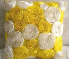 yellow and white flower throw pillow covers design