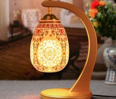 wonderfull table lamps for living room with ornamental carving