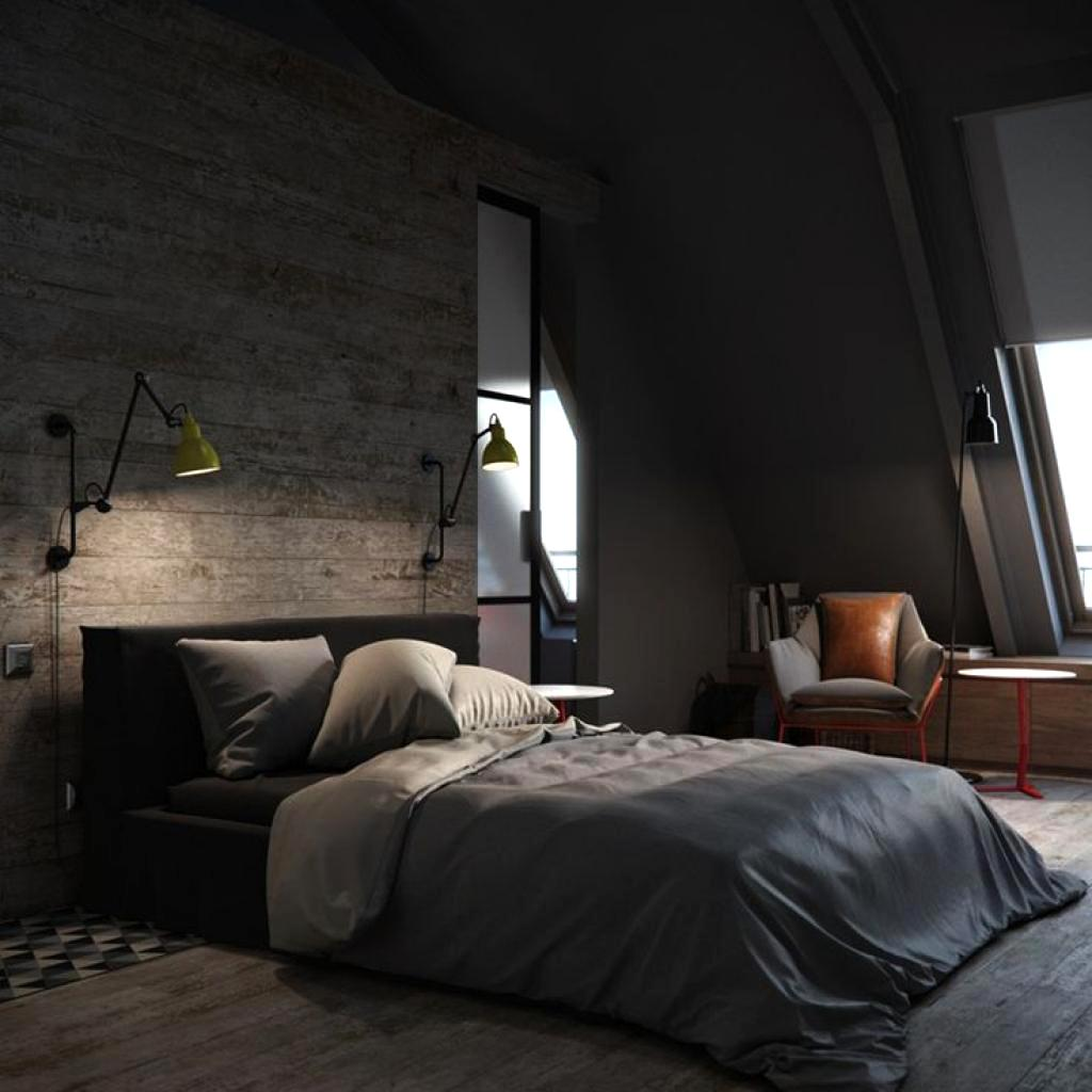 adorable black bedroom decorating ideas with grey blanket for mens