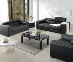 black leather sofa for small living room