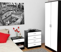 black and white bedroom furniture for small space