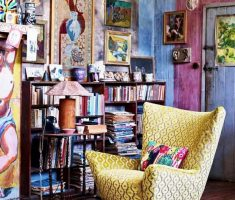 bohemian interior design ideas reading chair