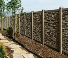 cheap fence panels rock stone materials