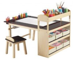 children art tables and desks with shelve in one