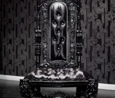 cool throne gothic black leather sofa