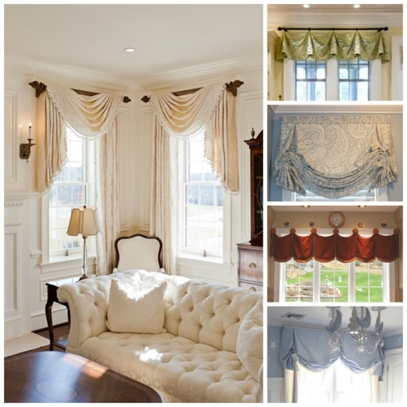 Beautify your home with valances window treatments for Custom window treatments