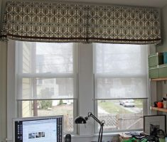 flat valances window treatments diy
