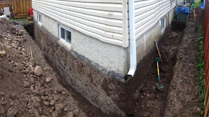 french drain basement foundation4 home inspiring