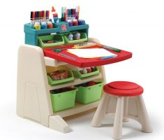 funny children art tables and desks with racks and penc colours case
