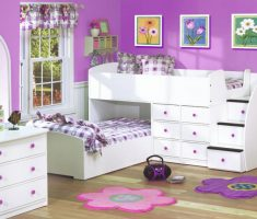 girls white bedroom furniture with violet purple and pink ascent decor