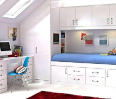 gloss white bedroom furniture for white kids bedroom with storage