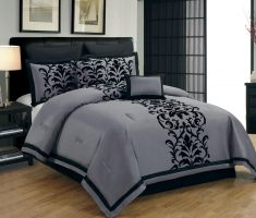 grey and black bedroom decorating ideas for small space