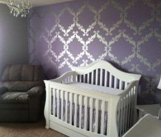 nice nursery purple baby girl rooms with purple wall theme