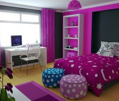 pink and purple modern rooms for teenage girls