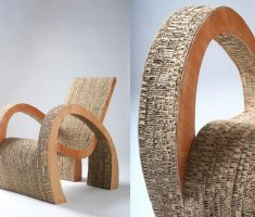 recycled furniture paper cardboard chair