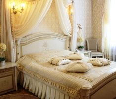 romantic bedroom decoration with candle