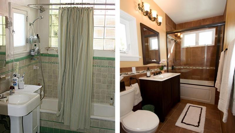 Before And After Small Bathroom Remodeling Home Inspiring