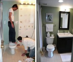 small bathroom remodelling before after