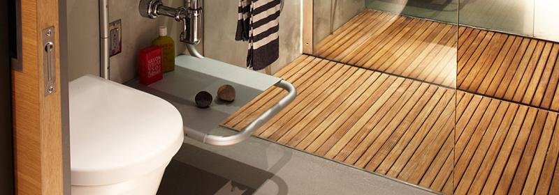 teak-bath-mats-for-small-modern-bathroom
