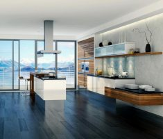 ultra modern kitchen for apartment