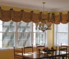 valances window treatments plaid