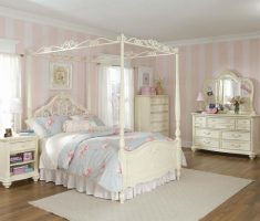 white bedroom furniture for girls with canopy bedroom