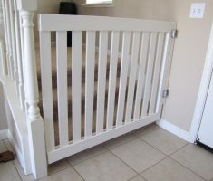 white wooden baby gates stairs ideas