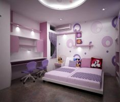 white and purple modern rooms for teenage girls theme