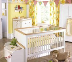 adorable yellow baby girl rooms colors theme with rousing decorations