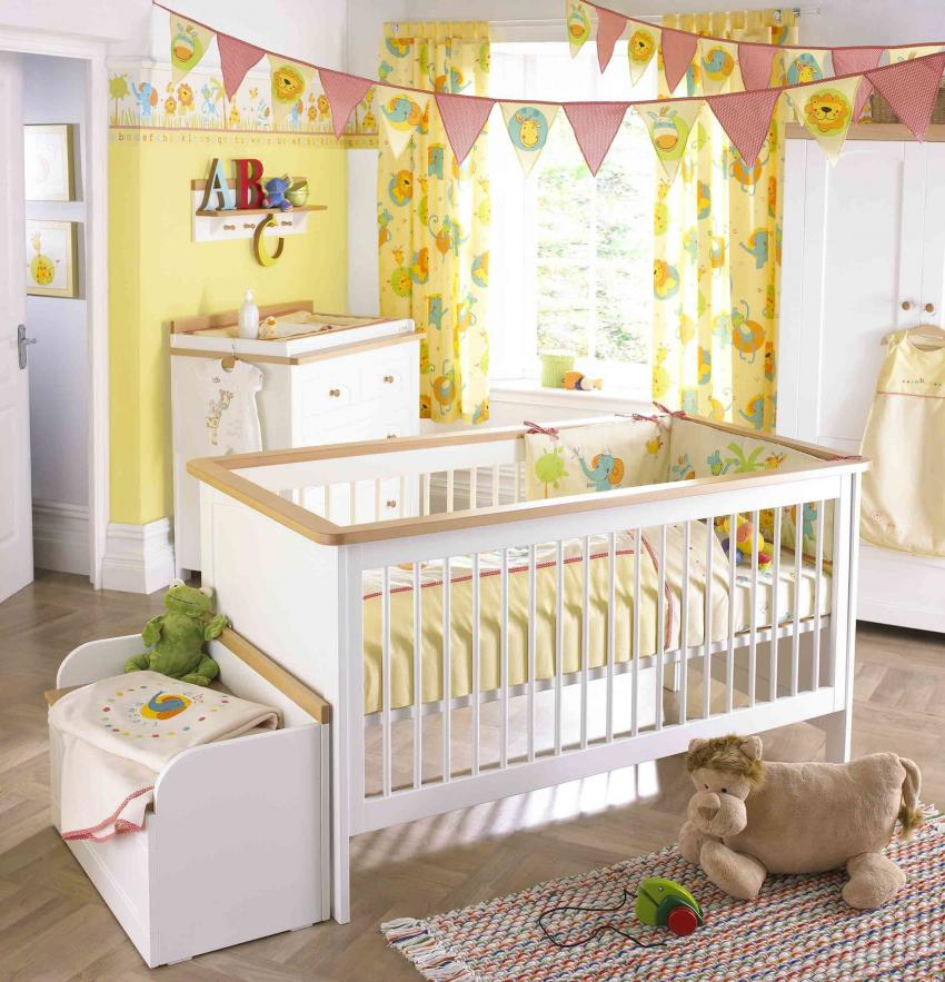 adorable-yellow-baby-girl-rooms-colors-theme-with-rousing-decorations
