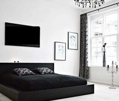 alluring black bedroom decorating ideas for men with black and white colors decor