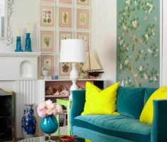 alluring-small-space-decoration-for-small-living-room-with-flower-wall-decor
