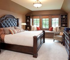 alluring brown headboard bedroom ideas tufted style