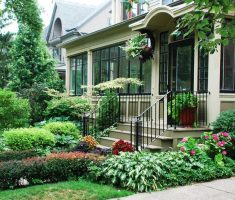 alluring natural landscaping ideas for front yard with porch