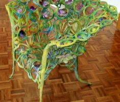 amazing and creative recycled metal for chair furniture