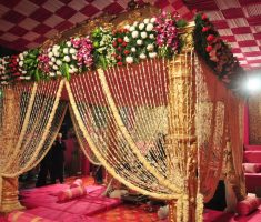 beautiful indian wedding room decorations bedroom with flowers curtain canopy