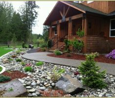 beautiful landscaping ideas for front yard with rocks