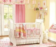 beautiful yellow baby girl rooms with fancy decorations