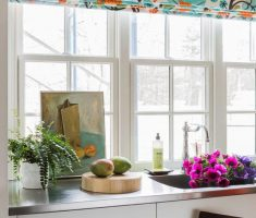beauty floral rolled kitchen window treatment ideas with flowers pic decor