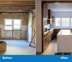 before after kitchen remodelling